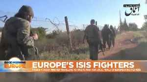 French foreign minister travels to Iraq to push for local trials of European ISIS fighters [Video]