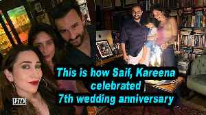 This is how Saif, Kareena celebrated 7th wedding anniversary [Video]