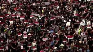 HK's legislature becomes protest battleground [Video]
