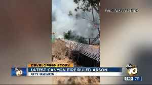 Fire investigators rule City Heights canyon blaze arson [Video]