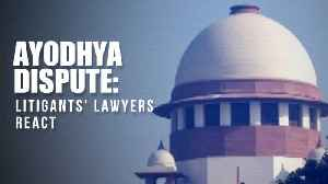 Watch: Ayodhya dispute litigants' lawyers react after SC reserves judgment [Video]