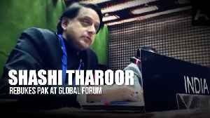 'Frankly absurd': Congress MP Shashi Tharoor rebukes Pak at global forum [Video]
