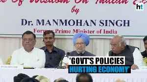News video: Modi & Fadnavis govts not adopting people oriented policies: Manmohan Singh