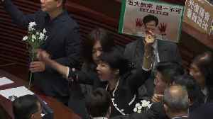 Hong Kong assembly session halted by new opposition protest [Video]