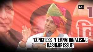 Rajnath Singh slams Congress over Rafale shastra puja criticism & Kashmir
