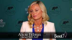SAP's Tillman Has Fun Finding Influencers Through TV [Video]