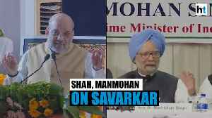 Watch: Amit Shah & Manmohan Singh speak on Savarkar amid Bharat Ratna row [Video]