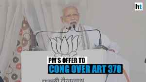PM Modi offers Congress a J&K trip amid Art 370 faceoff | Maharashtra polls [Video]