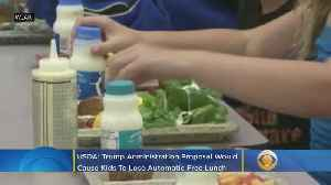 USDA: Nearly One Million Kids Would Lose Automatic Free Lunch Under Trump Proposal [Video]