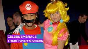 Celebs take their video game-inspired costumes to the next level [Video]