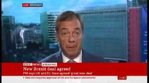 Brexit Party Leader Nigel Farage Would Rather Have An Extension And A General Election [Video]
