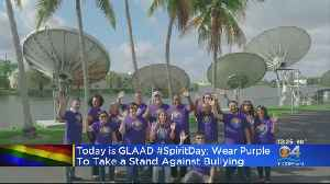 Wearing Purple For A Good Cause [Video]