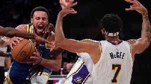 JaVale McGee FAKES Injury To Get Open For Dunk As Lakers EMBARRASS Warriors In Preseason Game [Video]