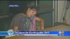 Californians Drop, Cover And Hold On For Annual Earthquake Drill [Video]