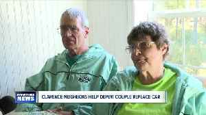 Neighborhood rallies to buy car for couple who delivers papers to Clarence development [Video]