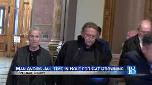 Tippecanoe County man avoids jail time for role in cat drowning caught on video [Video]