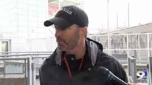 Web Extra: Tim Tibesar on improving defense, Cal gameplan (10/16/19) [Video]