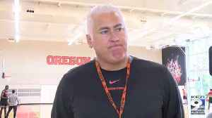 Web Extra: Wayne Tinkle on new faces, returning stars with OSU hoops (10/16/19) [Video]