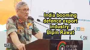India booming defence export industry: Bipin Rawat [Video]