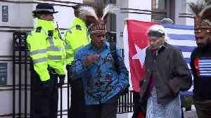 Westwood joins protest against BP's actions in West Papua [Video]