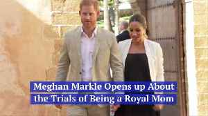 Meghan Markle's Balance Between Being A Mom And A Royal [Video]