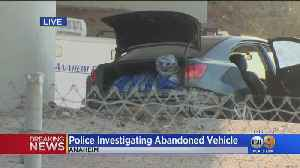 Police Investigating Abandoned Car Believed To Have Body Inside Trunk [Video]