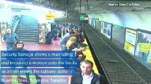 WEB EXTRA: Woman Falls On Train Tracks [Video]