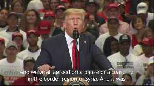 News video: Trump speaks on Syria and Ukraine at Texas rally
