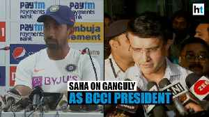 Ganguly as BCCI President will benefit cricketers: Wriddhiman Saha [Video]