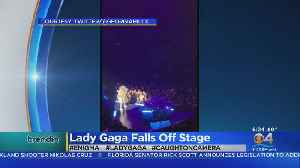 Trending: Lady Gaga Falls Off Stage [Video]