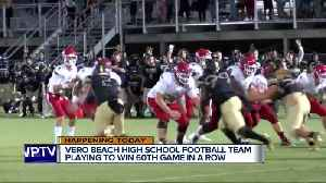 Vero Beach High School football team seeks 60th straight regular season win [Video]