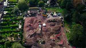 Human bones found at building site of a former old people's home in Leicestershire [Video]