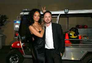 News video: Aaron Paul met 'crush' Rihanna