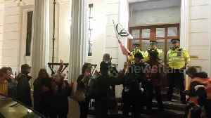 Extinction Rebellion protesters attempt to hand themselves in at Charing Cross police station [Video]