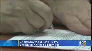Unemployment Rate In Pennsylvania At 4% For September [Video]