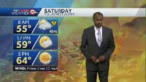 Rain will move in Saturday morning [Video]