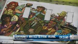 Community invited to paint mural [Video]