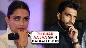 Deepika Padukone THREATENS Husband Ranveer Singh In Public [Video]