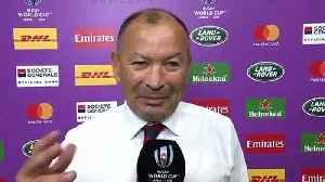 Eddie Jones Interview following England's quarter-final win [Video]