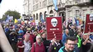 People's Vote march sets off from Park Lane [Video]
