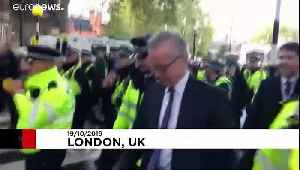 'Shame on you' - pro-EU protesters shout at British ministers leaving parliament [Video]