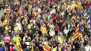 Massive separatist 'freedom' march hits Barcelona [Video]