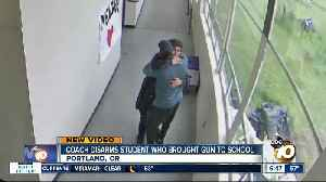 Portland coach disarms student who brought gun to school [Video]