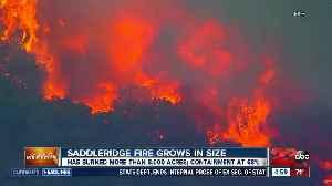 Saddleridge Fire Grows in Size [Video]