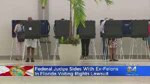 Judge Gives Partial Victory To Felons In Voting Fight [Video]