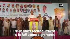 Watch Sharad Pawar continues his speech even as it rains in Maharashtra's Satara [Video]