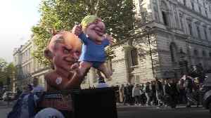 Anti-Brexit march: Giant puppets of PM and Dominic Cummings paraded through London