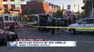 Bicyclist taken to ECMC after Buffalo police officer involved crash [Video]