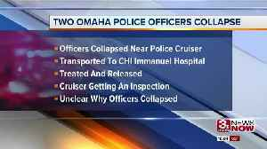 Two Omaha Police officers collapse [Video]