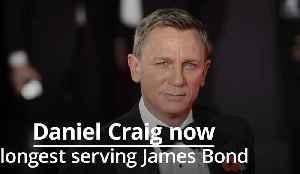 Daniel Craig now the longest serving James Bond [Video]